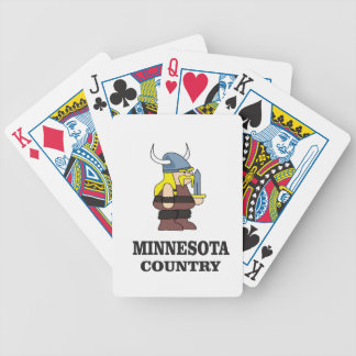 Minnesota country bicycle playing cards