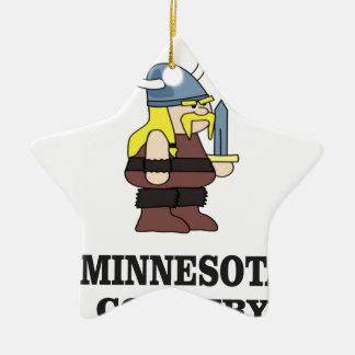 Minnesota country ceramic ornament