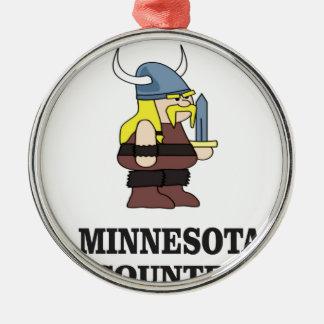 Minnesota country metal ornament