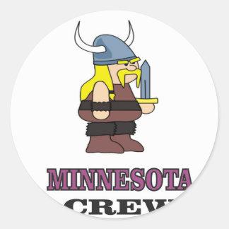 Minnesota Crew Classic Round Sticker