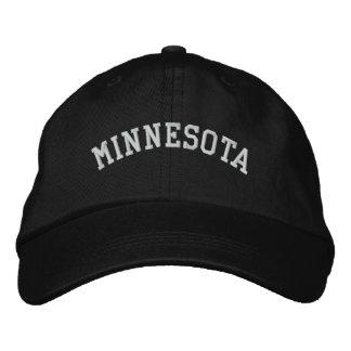 Minnesota Embroidered Adjustable Cap Black