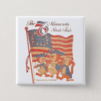 Minnesota Fair 1976 2 Inch Square Button