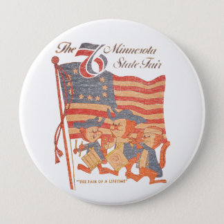 Minnesota Fair 1976 4 Inch Round Button