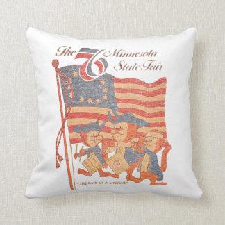 Minnesota Fair 1976 Throw Pillow