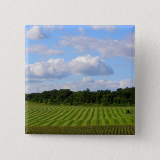 Minnesota farm beautiful summer day photography 2 inch square button