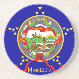 Minnesota Flag Coaster
