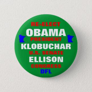 Minnesota for Obama Klobuchar Ellison 2 Inch Round Button