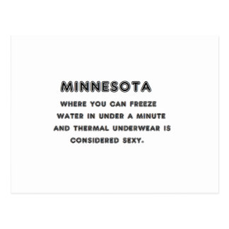 Minnesota Freeze Postcard