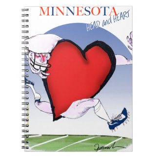 minnesota head heart, tony fernandes spiral notebook