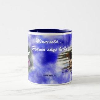 Minnesota...Heaven says hello Two-Tone Coffee Mug