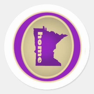 Minnesota:  Home Classic Round Sticker