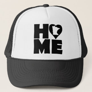 Minnesota Home Heart State Ball Cap Trucker Hat