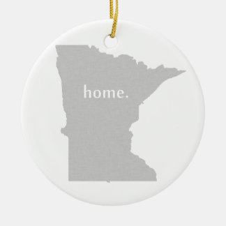 Minnesota home silhouette state map ceramic ornament