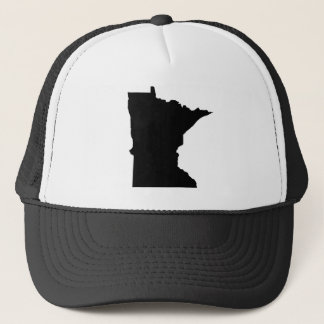 Minnesota in Black and White Trucker Hat