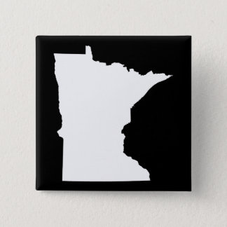 Minnesota in White and Black 2 Inch Square Button