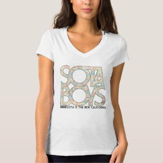 """""""Minnesota is the New California"""" Sota Girl V-Neck T-Shirt"""