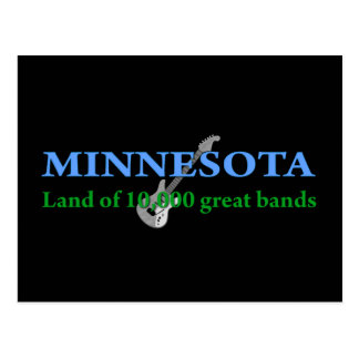 Minnesota - Land of 10,000 Bands Postcard