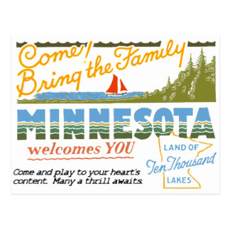 Minnesota - Land of Ten Thousand Lakes Postcard