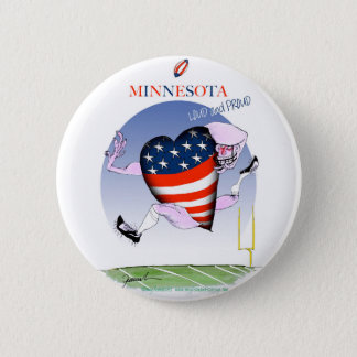 minnesota loud and proud, tony fernandes 2 inch round button