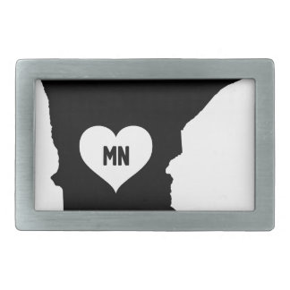 Minnesota Love Rectangular Belt Buckle
