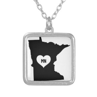 Minnesota Love Silver Plated Necklace