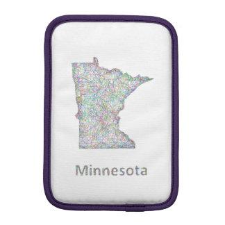 Minnesota map iPad mini sleeve