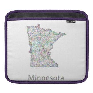 Minnesota map iPad sleeves