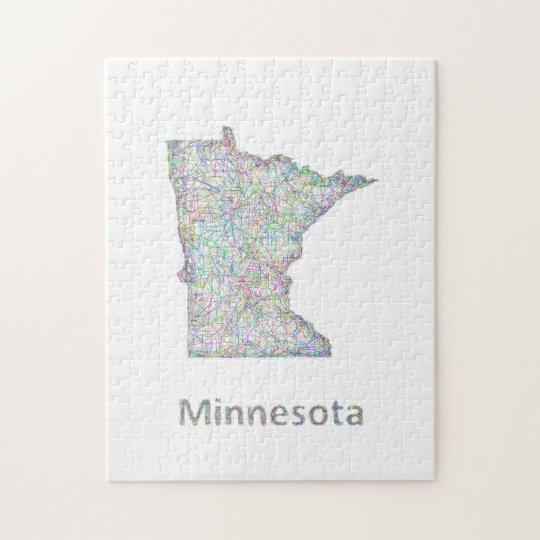 Minnesota map jigsaw puzzle