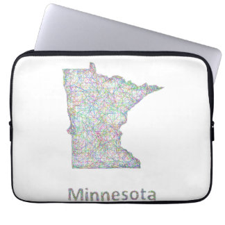 Minnesota map laptop computer sleeves