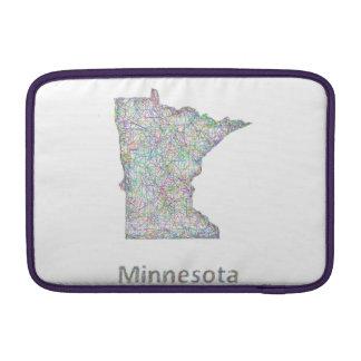 Minnesota map MacBook sleeves