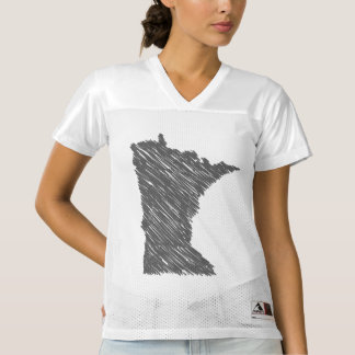 Minnesota Map Women's Football Jersey