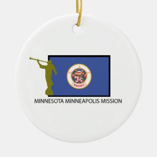 MINNESOTA MINNEAPOLIS MISSION LDS CTR CERAMIC ORNAMENT