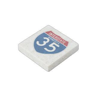 Minnesota MN I-35 Interstate Highway Shield - Stone Magnets