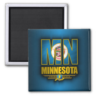 Minnesota (MN) Square Magnet