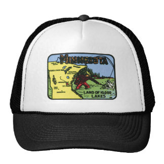 Minnesota MN Vintage Label Trucker Hat