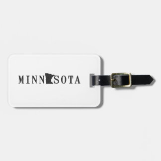 Minnesota Name with State Shaped Letter Luggage Tag