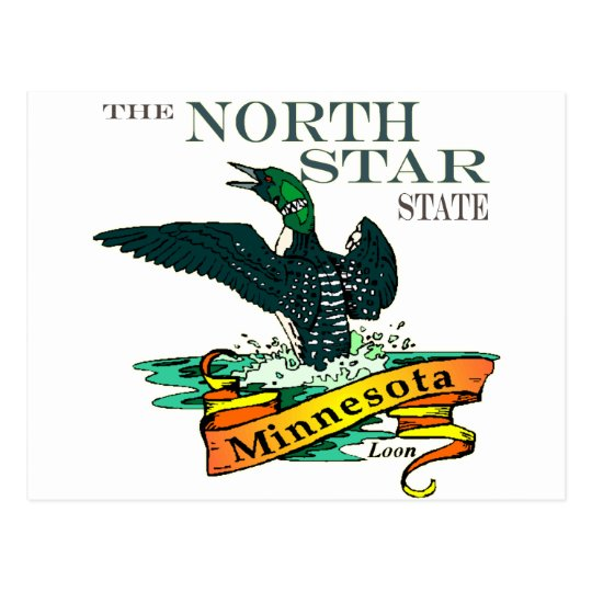 Minnesota North Star State Loons Postcard