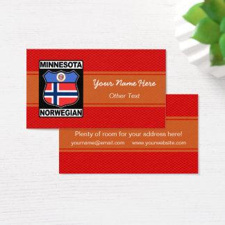 Minnesota Norwegian American Business Card Temp