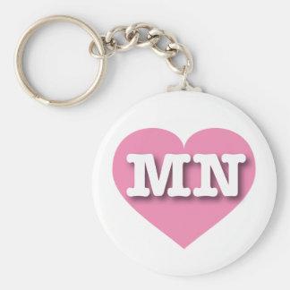 Minnesota Pink Heart - Big Love Keychain
