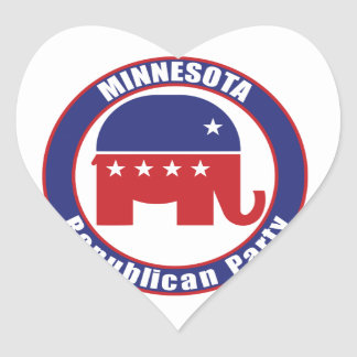 Minnesota Republican Party Heart Stickers