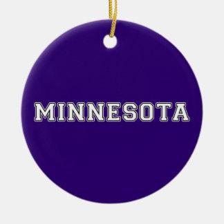 Minnesota Round Ceramic Ornament