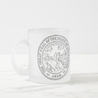 Minnesota Seal Frosted Glass Coffee Mug