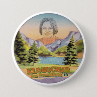 Minnesota Senator Amy Klobuchar for President 3 Inch Round Button