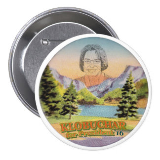 Minnesota Senator Amy Klobuchar for President 3 Inch Round Button