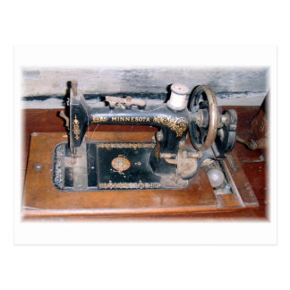 Minnesota sewing machine postcard