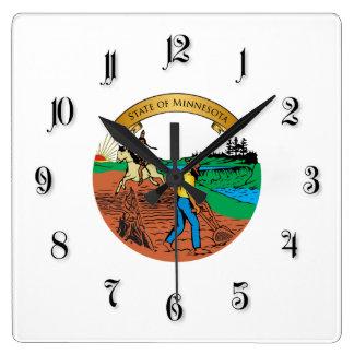Minnesota Square Wall Clock