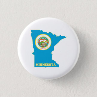 Minnesota State Flag Map 1 Inch Round Button
