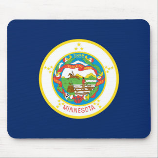 Minnesota state flag usa united america symbol mouse pad