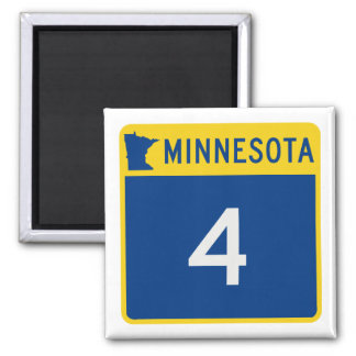 Minnesota State Highway 4 Square Magnet