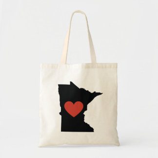 Minnesota State Love Book Bag or Travel Tote